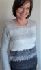 Grey Silver Eyelash Yarn Sweater SM M XL