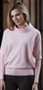 Cotton Pink Cowl Neck Sweater M XL