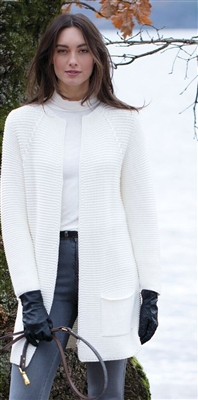 Cotton Blend Ivory Cardigan XS SM