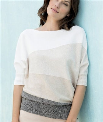Cotton Relaxed Fit Natural Sweater