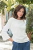 Sweater with 3/4 Bell Sleeve White