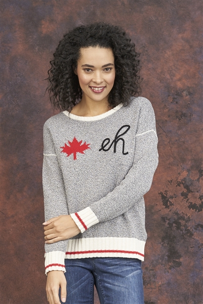 🍁 Cotton Canada Eh Sweater Grey M LG XL