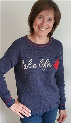 Cotton Lake Life Sweater Blue