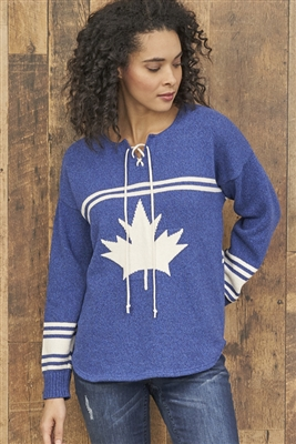 Cotton Canada Hockey Sweater Blue