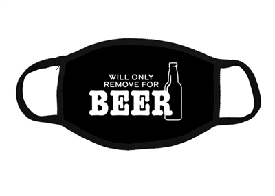 Face Mask Unisex Black Cotton Will Remove For Beer