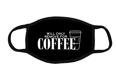 Face Mask Unisex Black Cotton Will Remove For Coffee
