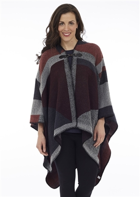 Cottage Collection Toggle Closure Cape Grey Wine OS