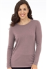 Long Sleeve Crew Neck Sweater Mulberry
