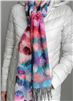 Scarf Cashmink Oversized Water Colour Dottie Off White