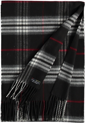 Scarf Cashmink Oversized Plaid Black