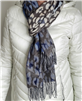 Scarf Cashmink Solid Ombre Leopard Navy